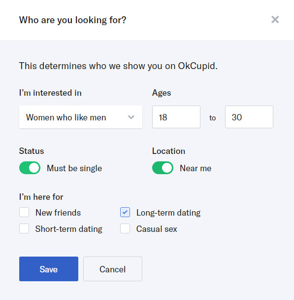 okcupid looking for