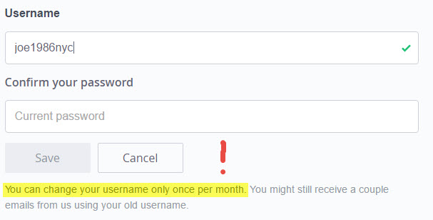 okcupid username change